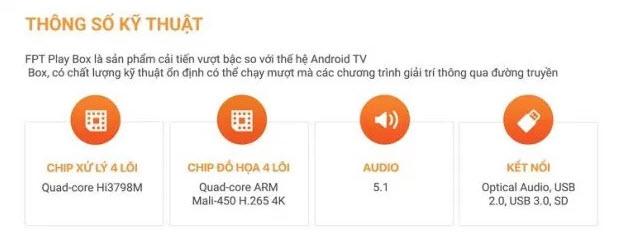Thông số kỹ thuật fpt play
