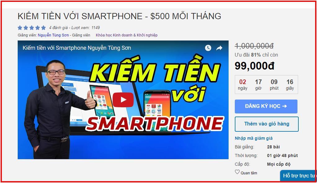 Kiếm tiền với điện thoại androi - ios smartphone