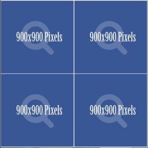 Quảng cáo facebook hiển thị 04 hình vuông