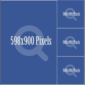 Quảng cáo facebook Hiển thị một hình nằm dọc, 03 hình nằm kế bên