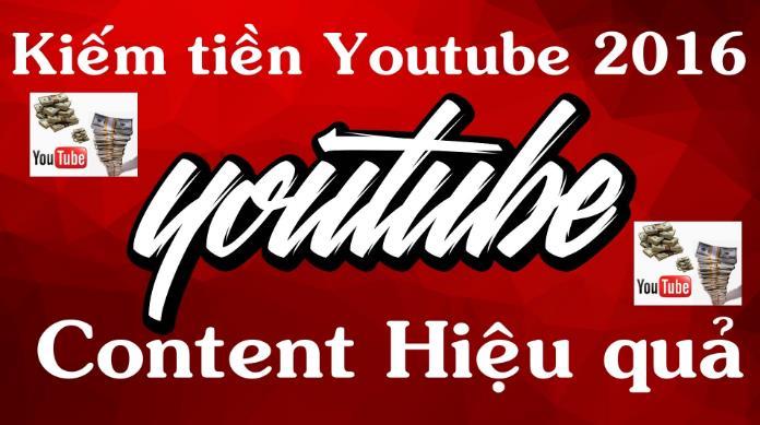 Kiếm tiền hiệu quả cùng youtube