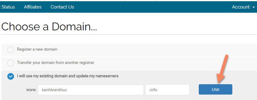 Chọn tên miền cho website