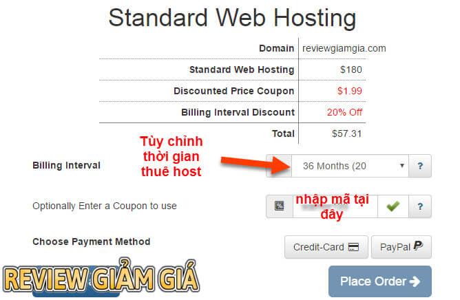 Mã giảm giá hosting Interserver