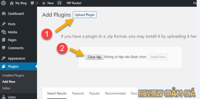 Cài plugin cho wordpress