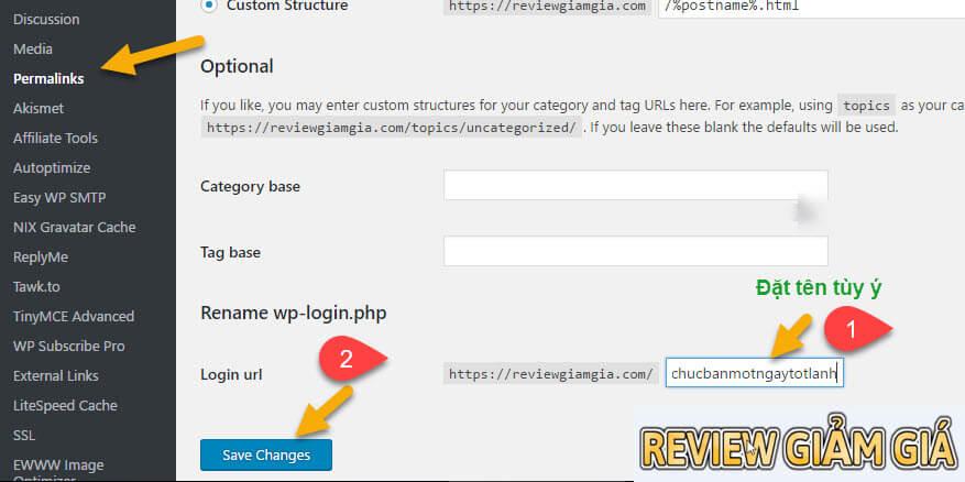 Hướng dẫn đổi đường dẫn trang đăng nhập wordpress
