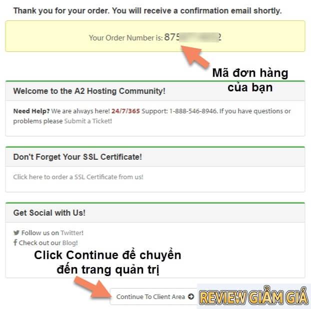 Hướng dẫn mua host A2hosting