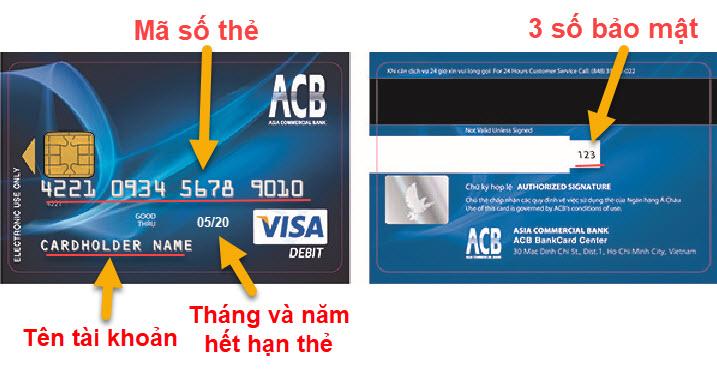 Hướng dẫn nhập thông tin thanh toán Visa