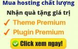 Tặng theme premium khi mua hosting