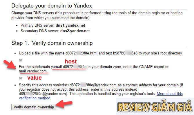 Hướng dẫn tạo email tên miền riêng với Yandex - Hướng dẫn