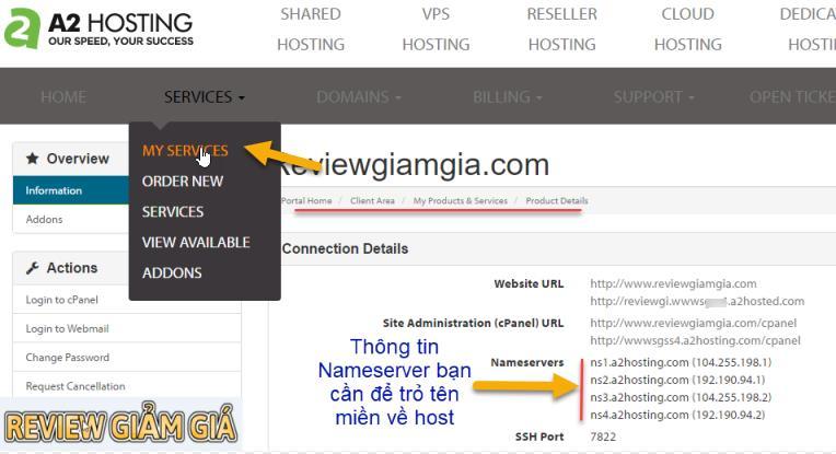 Hướng dẫn trỏ domain về host