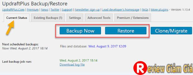 backup wordpress tu dong 7