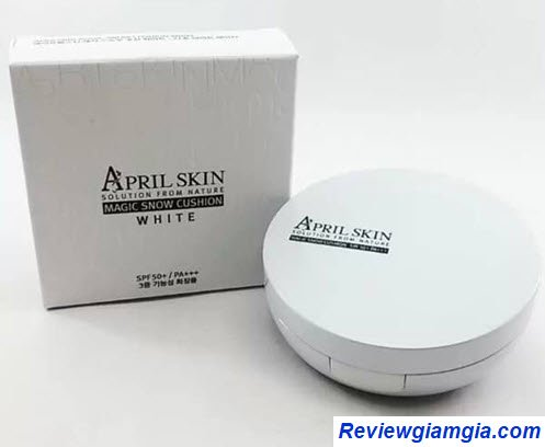 Phấn nước April Skin Magic Snow Cushion White