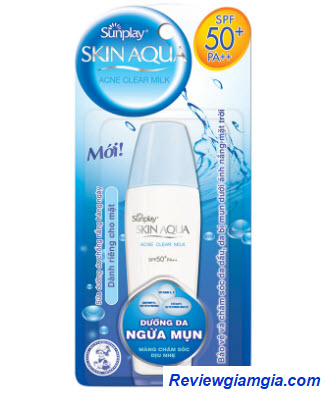 Kem chống nắng Sunplay Skin Aqua Acne Clear Milk