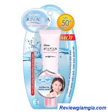 Kem chống nắng Sunplay dạng kem Skin Aqua Silky White Essence