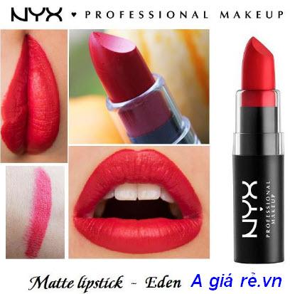 Review son Nyx Matte Lipstick màu Eden