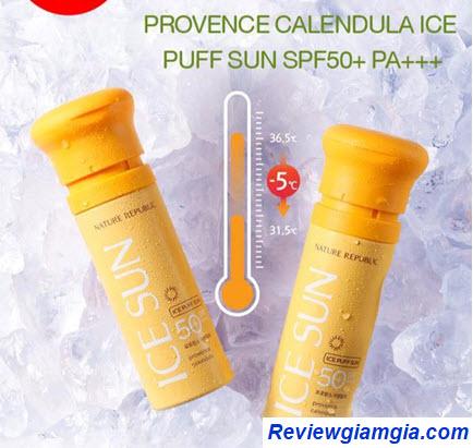 Kem chống nắng giải nhiệt Nature Republic Ice