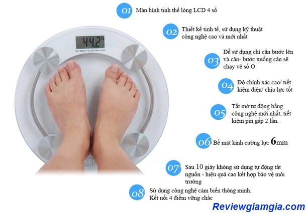 Màn hình hiển thị cân nặng