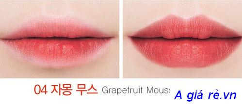 Son tint hình kẹo hồng The Saem Mousse Candy Tint màu Grapefruit