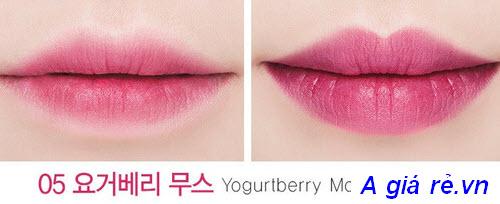 Son tint hình viên kẹo The Saem Mousse Candy Tint màu Yogurtberry