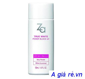 Kem chống nắng Za True White Ex Power Block UV