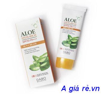Kem chống nắng dưỡng da lô hội Dabo Aloe Stem Rich