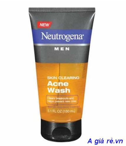 Sữa rửa mặt trị mụn cho nam Neutrogena
