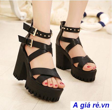 Giày sandal nữ đế thô