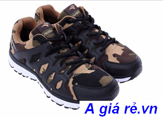 Giày hunter bitis nữ đen Camo