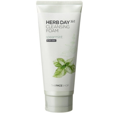Sữa rửa mặt The Face Shop Herb Day 365 Mint Cleansing Foam