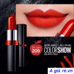 Maybelline Color Show Big Apple Red Creamy MatteMàu Đỏ Cam 209 Red Liberation