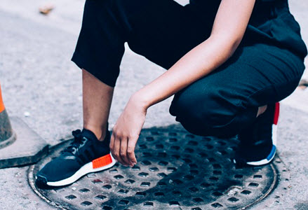 Giày NMD nữ màu đen giá rẻ
