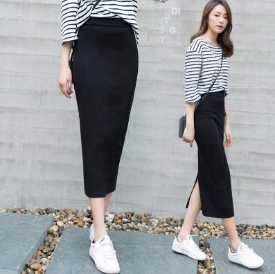 Chân váy công sở dáng dài
