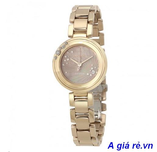 Đồng hồ nữ Citizen cao cấp, mặt tròn