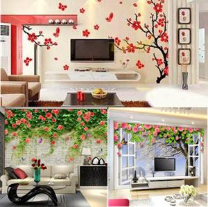 giấy dán tường hoa xuân 2