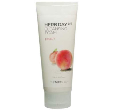 Sữa rửa mặt The Face Shop đào Herb Day 365 Peach