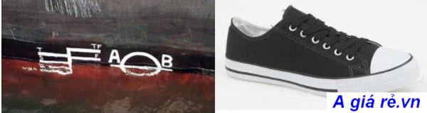 Vạch kẽ trên đôi giày đầu tiên