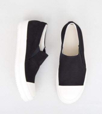 Giày lười nam vải canvas của Rick Owens