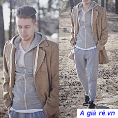 quần jogger phối áo khoác nam