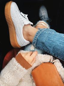 Giày PUMA trắng creeper