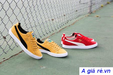 Giày PUMA vàng đỏ