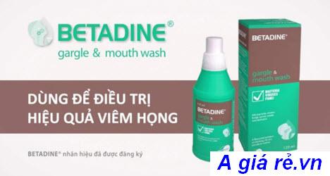 Nước súc miệng Betadine