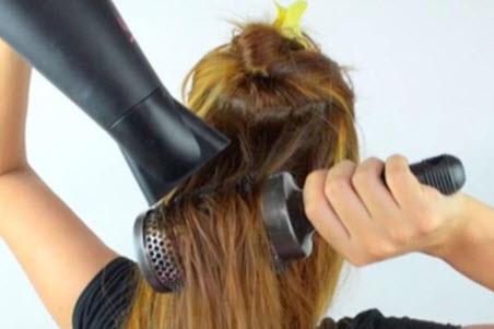 Cách sấy tóc