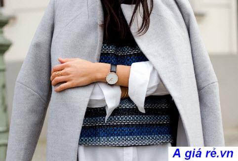Đồng hồ dây da với trang phục menwear