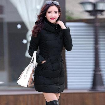 áo khoác nữ phao dáng dài