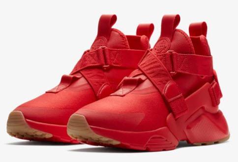 Giày Huarache City phối màu đỏ tươi