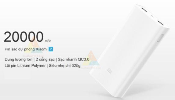 Pin sạc dự phòng Xiaomi 20.000 MAH