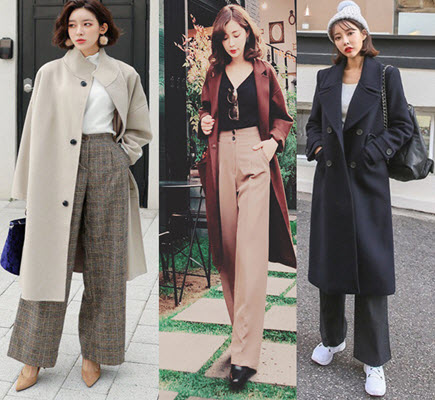 Quần culottes áo khoác dài