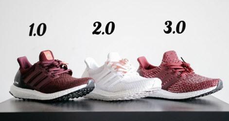 Ba phiên bản giày Ultra Boost của nhà Adidas