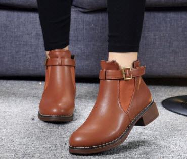 Giày boot nữ cổ ngắn