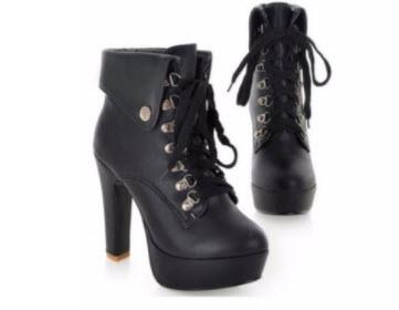 Giày boot nữ cột dây